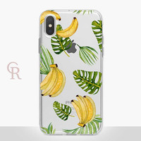 Banana Clear Phone Case - Clear Case - For iPhone 8 - iPhone X - iPhone 7 Plus - iPhone 6 - iPhone 6S - iPhone SE Transparent Summer