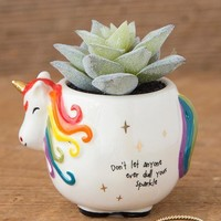 Unicorn Faux Succulent