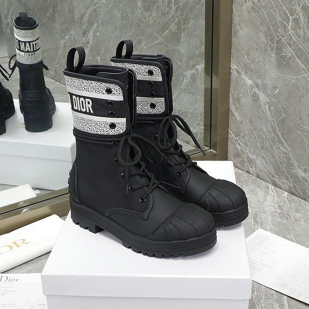 Image of Christian Dior lace up shell head knight boots Shoes