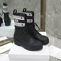 Christian Dior lace up shell head knight boots Shoes