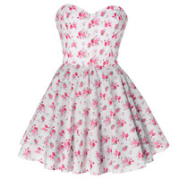 Vintage Inspired Floral Prom dress | Style Icon`s Closet