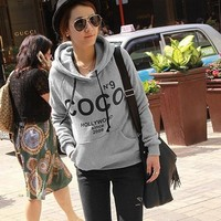 2017 Women's Hoodies Printed COCO Sweatshirts Autumn Winter Sportswear Parka Coats Moleton Feminino Women Pullovers S-XXXL