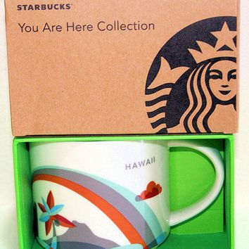 Licensed cool Starbucks Hawaii You Are Here COLLECTION 14 OZ Coffee Mug Cup YAH Boxed 2017 NEW