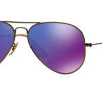 RAY-BAN RB 3025 bronze with Purple Mirror