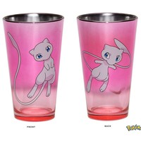16oz OFFICIAL Pokemon Purple PREMIUM Pint Glass GIFT with Mew on Both Sides