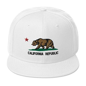 California Republic Flag Snapback Hat