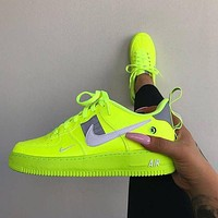 Nike Air Force 1 Hot Sale Women's Letter Cartoon Embroidered Canvas Sneakers