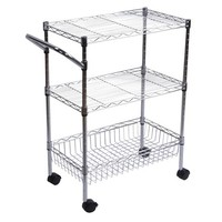 Room Essentials 3 tier utility cart with wheels, chrome