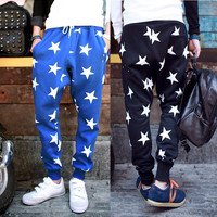 2015 New Men Printed Drop Crotch Harem Skinny Sweatpants Sports Baggy Pants Mens Casual Hip Hop Joggers Silm Bandana Trousers = 5710928769