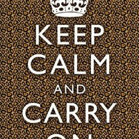 (13x19) Keep Calm and Carry On Leopard Print Poster