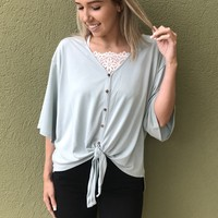 Soft On The Eyes Top - Blue/Green
