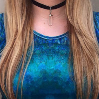 Boho Natural Opal Stone Pendant Necklaces Velvet Choker Necklace