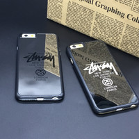 Stussy Cases for iPhone 5 5s 6s 6 plus New York London Paris Phone Case PC Mirror Back Cover For Fundas Caso Coque iphone 5s