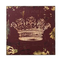 Red Crown Print Wall Décor