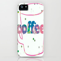coffee cup iPhone & iPod Case by Laura Santeler