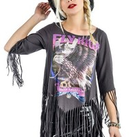 Women's She Devil Fringe Top - Fly High