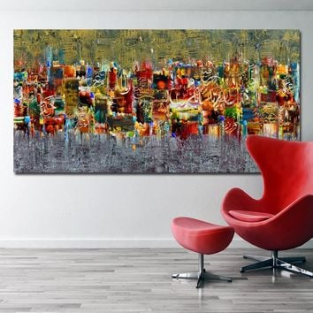 SELFLESSLY Abstract Art Canvas Poster and Print Landscape Painting On The Wall Modern Wall Pictures For Living Room Art Print