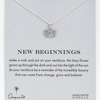 Women's Dogeared 'New Beginnings' Lotus Pendant Necklace