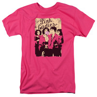 GREASE/PINK LADIES-S/S ADULT 18/1-HOT PINK