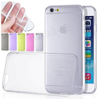 Epacket Free Shipping Ultra thin Iphone 6 6s clear Case Iphone 6 plus Case Cover Clear 0.3mm TPU Silicone Soft Cover