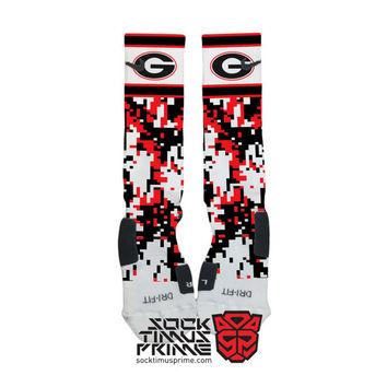 Custom Nike Elite Socks - Georgia Bulldogs Custom Nike Elites - University of Georgia, Custom Elites, Georgia, Nike Socks, Georgia Football