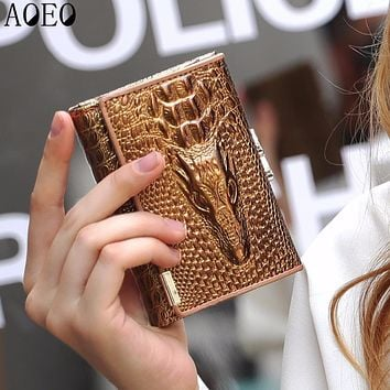 AOEO Small Wallets Cute Girls Lock Coin Purse For Women Gifts With ID Credit Card Holder Cash Ticket Pocket Ladies Wallet Female