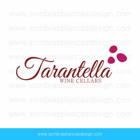 OOAK Premade Logo Design - Pink Grapes - Perfect for a winery or cellar branding