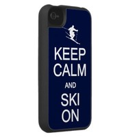 Keep Calm & Ski On iPhone case from Zazzle.com