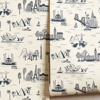 Rifle Paper Co. for Hygge & West Cities Toile Wallpaper