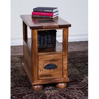 Sunny Designs 3163RO-CS Sedona Chair Side Table In Rustic Oak