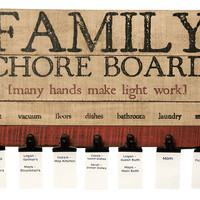Family Chore Memo Board - 16-in