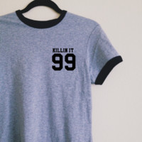 Aurelie Killin It Ringer Tee
