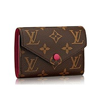 LV Louis Vuitton Trending Stylish Canvas Wallet Purse I