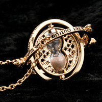 Retro & Trendy Rotating Spins Hourglass Time Turner Pendant Necklace