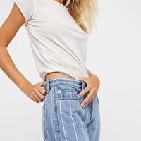 Free People Draw the Line Boyfriend Jean