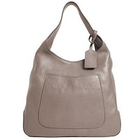 Prada Women's Argilla Grey Leather Large Hobo Handbag 1BC006