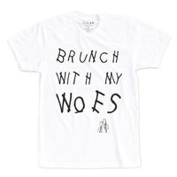 BRUNCH WITH MY WOES   TEXT SHIRT