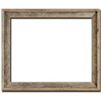 """16x20 - 2"""" Wide Signature Reclaimed Rustic Barnwood Open Frame - No Glass Or Back"""