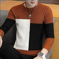 Winter New Arrivals Thick Warm Sweaters O-neck Wool Sweater Men Brand Clothing Knitted Cashmere Pullover Men