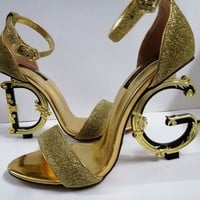 D&G Dolce & Gabbana Women Trending Leather High Heel Shoes Best Quality