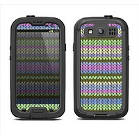 The Colorful Knit Pattern Samsung Galaxy S3 LifeProof Fre Case Skin Set