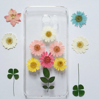 Samsung Galaxy S5 Case Pressed Flowers, Samsung Galaxy S6 Case Clear, galaxy note 5 case clear, note 4 case, iPhone 6 Case, iPhone 5 cover