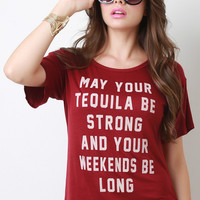Tequila Weekends Relaxed Fit Tee