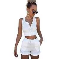 Two Piece Set Top And Shorts
