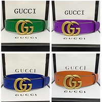 Gucci Belt Fashionable Gucci Waistband Woman Men LV Smooth Buckle Leather Belt
