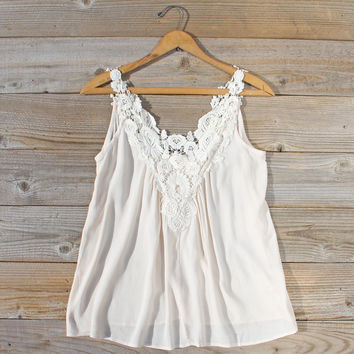 Hibiscus & Lace Top
