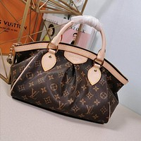 lv louis vuitton women leather shoulder bags satchel tote bag handbag shopping leather tote 20