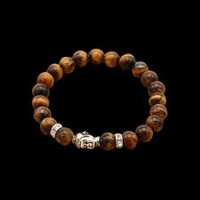 Natural stone Buddha beads bracelet
