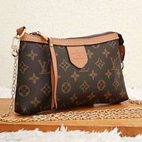 Onewel LV  Bag Louis Vuitton Crossbody bag Contrast Edge Bag Coffee Print