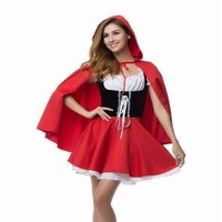 Little Red Riding Hood Dress For Women